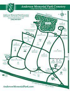 Anderson Memorial Park Cemetery Map