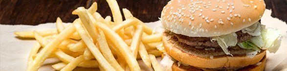 Burger and fries