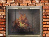Fireplace door
