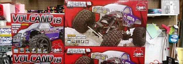 Boxes of monster trucks