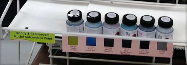 Variety of paint supplies
