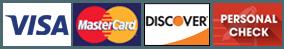 Visa | Mastercard | Discover | Personal Check