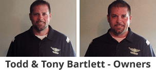 Todd & Tony Bartlett, owners of Bartlett Auto Glass