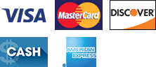Visa | MasterCard | Discover | Cash | American Express