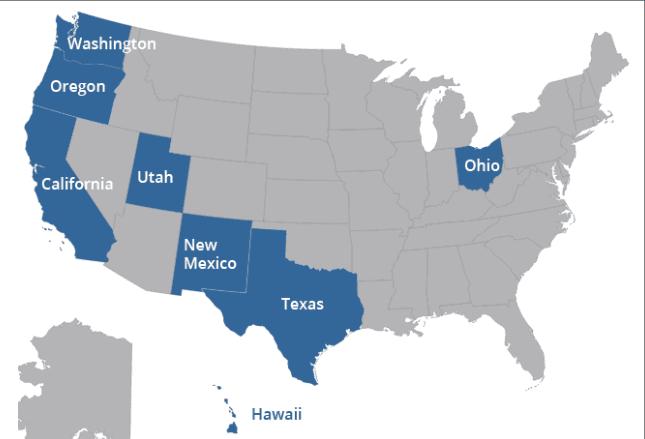 American Flooring, Inc. | Service Area Map