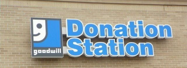 Goodwill Donation Station Sign
