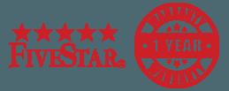 Five Star, 1 Year Warranty