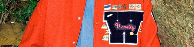 Varsity jacket with custom embroidery design