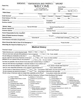 Adult Registration and Health Questionnaire