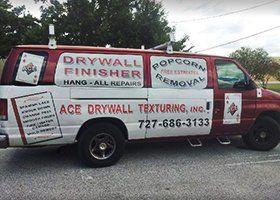 Drywall service van