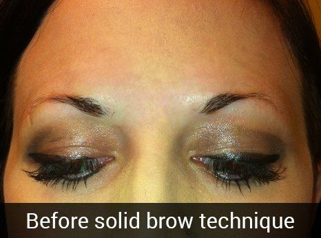 Before solid brow technique