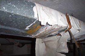 Loose asbestos