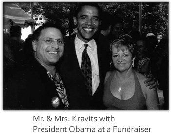 Mr. & Mrs. Kravits with President Obama at a fundraiser