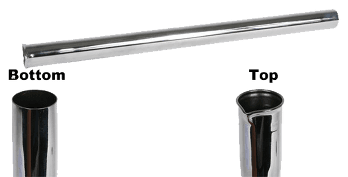 19-inch Central Vacuum Chrome Extension Tube Wand