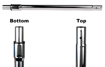 Telescopic Wand - Button Lock Top - Friction Bottom