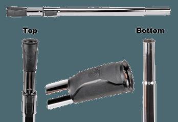 Comfort Grip Telescopic Wand - Button Lock Top - Friction Bottom