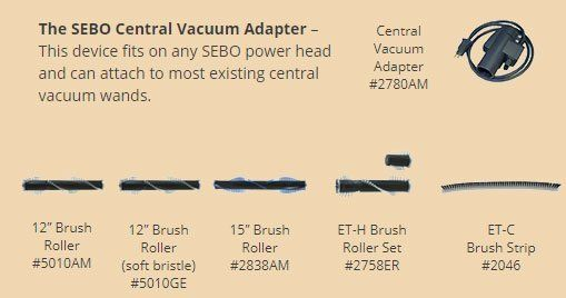 The SEBO Central Vacuum Adapter