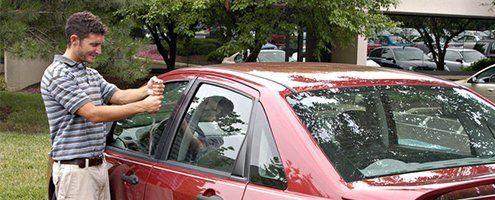Car door opening