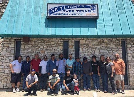 Residential and commercial skylights services team