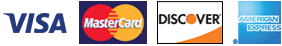 Visa, MasterCard, Discover and AMEX