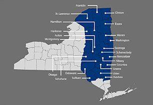 Bernardo-Goldstein & Quinn Agency, Inc | Service Area map