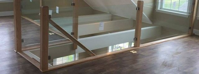 glass and metal railing Glass Stair Railing Systems Newport East Greenwich RI