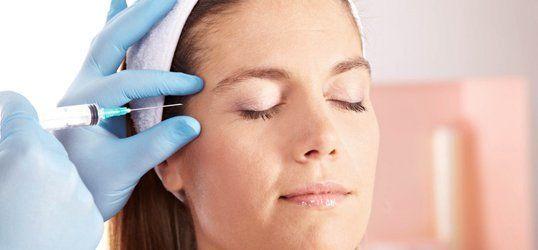 Facial contouring with Botox