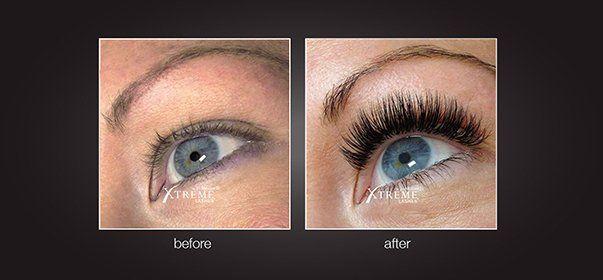 Enhanced eyelashes