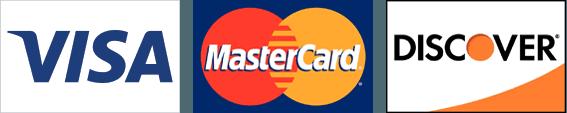 Visa, MasterCard and Discover logos
