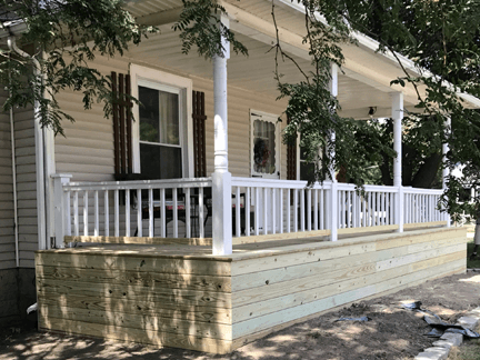 Front porch home addition