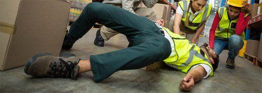Injured worker at work