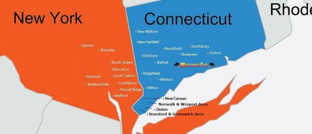Montanari Fuel Service Inc Service Area Map