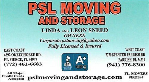 PSL Moving & Storage - Logo