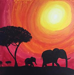 Elepants Painting