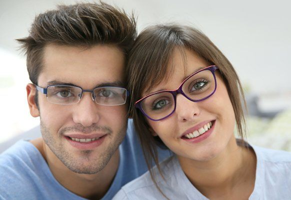 Couple with eyeglasses