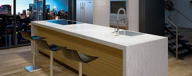 Quartz Countertop Of A Modern Condominium Unit