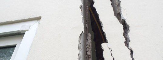 Cracked, exterior