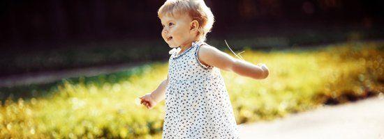 little girl in dress