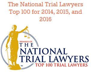 The National Trial Lawyers Top 100 for 2014, 2015, and 2016