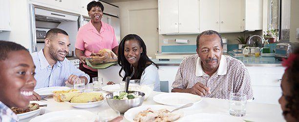 family in dinner table