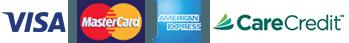 Visa, Mastercard, American Express, Care Credit