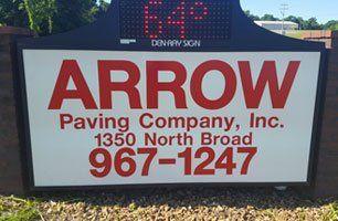 Arrow Paving Co. Inc. sign board