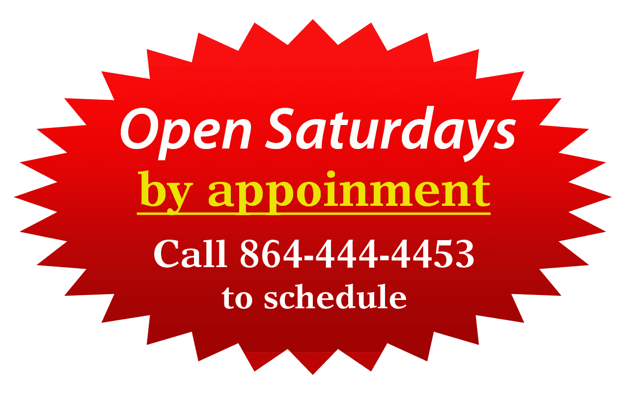 Open Saturdays by Appointment