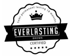 Everlasting Brows Certified Logo