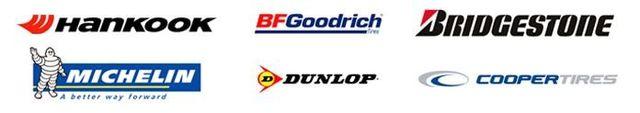 Hankook, BF Goodrich, Bridgestone, Michelin, Dunlop, Cooper tires