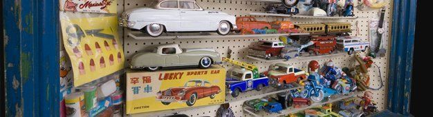 Toy cars and trains