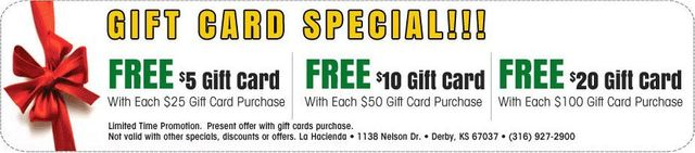 Gift Card Special!!!