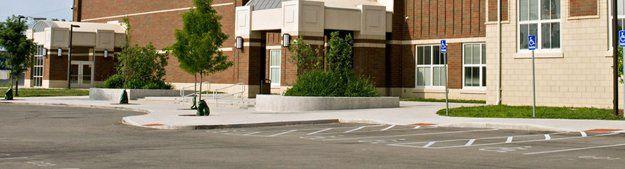 Schools parking area