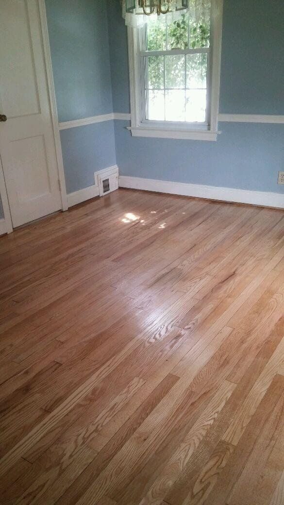 Newly refinished hardwood floor