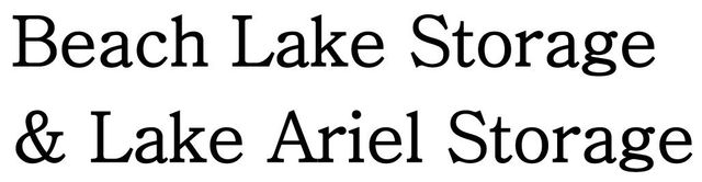 Beach Lake Storage & Lake Ariel Storage - Logo